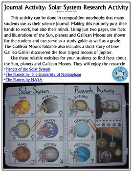 Science Journal: Solar System Research Activity