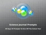 Science Journal Starters To Kick Off The School Year