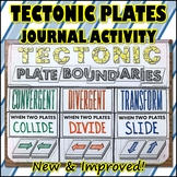 Science Journal: Tectonic Plates Journal Activity