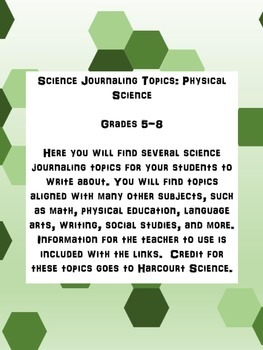 Science Journal Topics: Physical Science