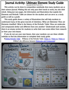 Science Journal: Ultimate Element Study Guide