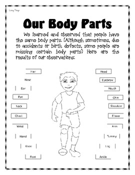 Science Journal for Kinders - Living Things (includes the Five Senses)