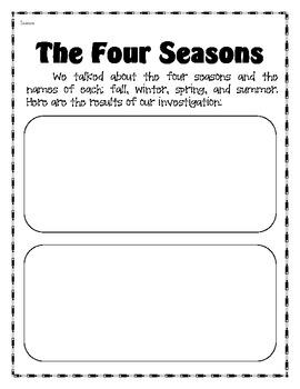 Science Journal for Kinders - Seasons