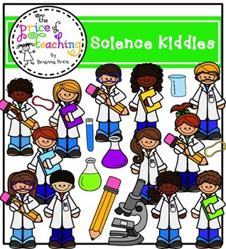 Science Kiddies Clipart Set (The Price of Teaching Clipart Set)