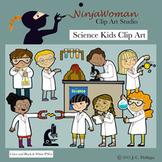 Science Kids Clip Art