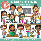 Science Kids Clip Art – Young Kids