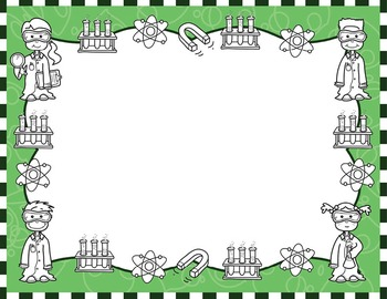 Science Kids Clipart: Borders & Frames - Set #2