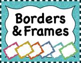 Clipart: Borders & Frames Set  #1