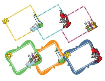 Science Kids Clipart: Borders & Frames - Set #3
