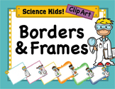 Science Kids Clipart: Borders & Frames - Set #4