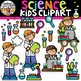 Science Kids Clipart {Science Clipart}
