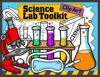 Science Kids Clipart Lab Toolkit