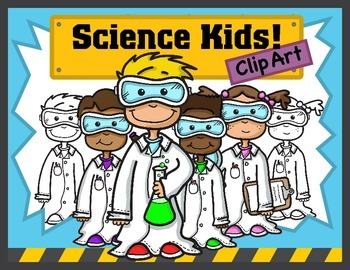 Science Kids Clipart: Young Scientists