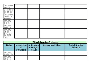 Science LRP Template for 2017-2018