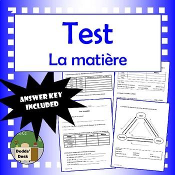Science – La matière - Test final (Matter)