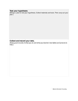 Science Lab Activity Data Sheet