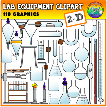 Lab Equipment Clipart 2 Dimensional
