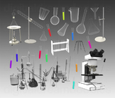 Science Lab Clip Art - Chemistry Set Digital Graphics