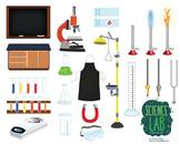 Science Lab Tools Clip Art Set