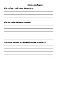 Science Lab EDITABLE Template