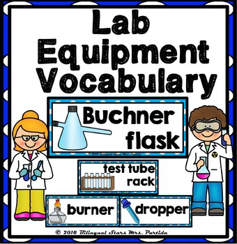 Science Chemistry Lab Equipment Vocabulary Word Wall