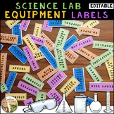 Science Lab Equipment Labels
