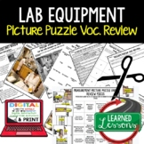 Science Lab Equipment Puzzle Study Guide Test Prep