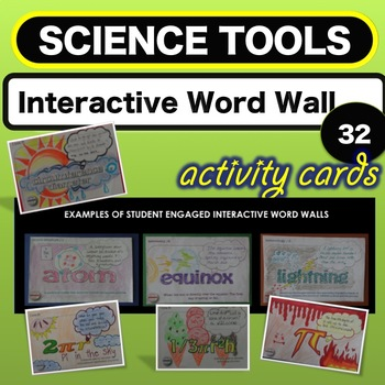 Science Lab. Equipment - Science Tools - Interactive Word Wall  Activity