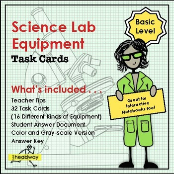 Science Lab Equipment Task Cards Basic