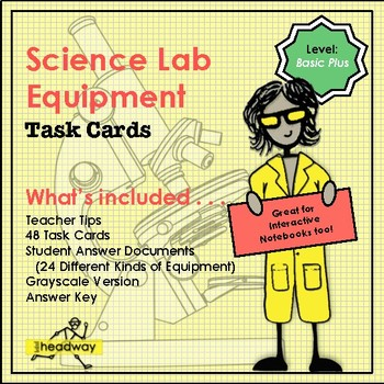 Science Lab Equipment Task Cards Basic Plus