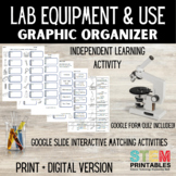 Science Lab Equipment & Uses Graphic Organizer + Distance