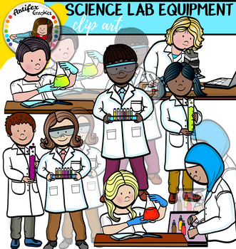 Science Lab Equipment Clip Art Big Set Of 109 Graphics