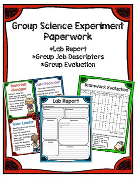 Science Lab/Experiment Group Paperwork BUNDLE!