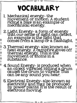 Science Lab: Forms of Energy Hunt & More!
