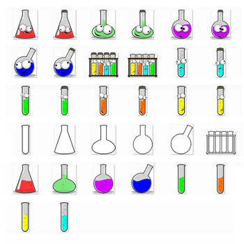 Science Lab - Fun Clipart. Funny Faces, Colors, Transparent {The Teacher Stop}