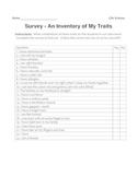 Middle School Science Genetics Lab - Genetic Traits Survey