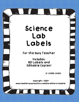 Science Lab Labels 5th Grade Cute