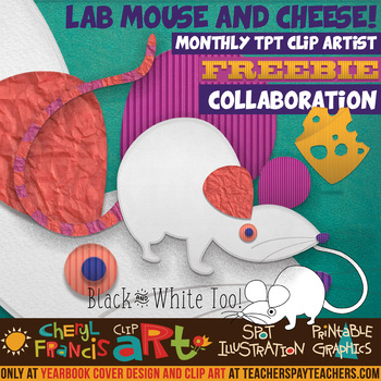 Science Lab Mouse with Cheese Clip Art