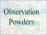 Science Lab- Mystery Powder Observation