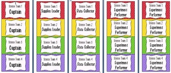 Science Lab Name Tags