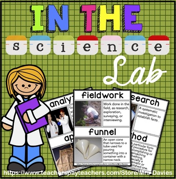 Science Lab Picture Word Wall