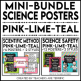 Science Poster Mini Bundle in Pink, Lime, and Teal