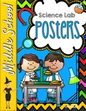 Science Lab Posters - 10 Procedure Reminders!