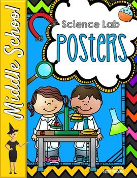 Science Lab Posters - 10 Procedure Reminders!