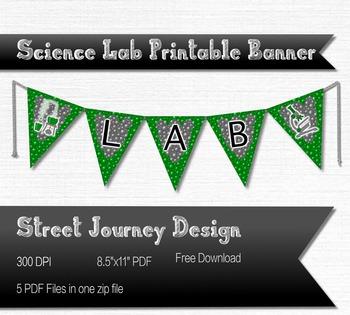 Science Lab Printable PDF Banner