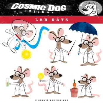 Science Lab Rats Cartoon Clip Art