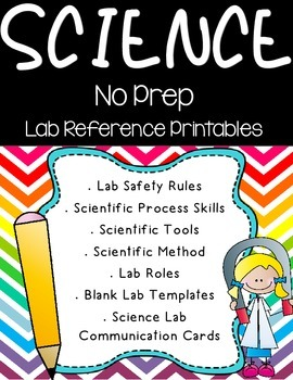 Science Lab Reference Printables
