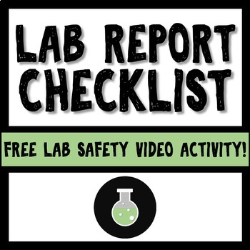 Science Lab Report Checklist