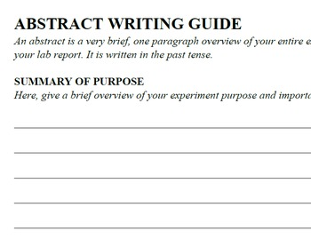 Science Lab Report Writing Guide
