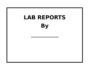 Science Lab Reports; Lucy Calkin Unit 2